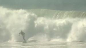 Storm surge leading to big surf along  southern California coast