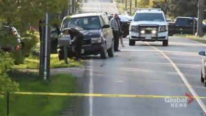 RAW: Global News video shows interaction with Hamilton police