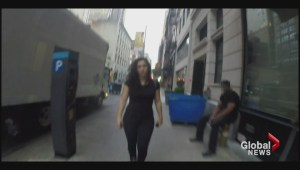 Woman walks NYC streets, catcalled over 100 times
