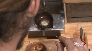 Calgary artist cooking up mini donuts in mini kitchen
