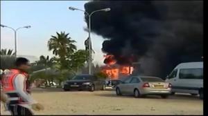 Raw video: Aftermath of rocket strike on Israeli gas station