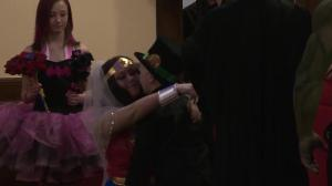 Edmonton boy with life-threatening illness marries Wonder Woman