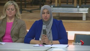 Muslim woman running for school board trustee says she's the victim of a smear campaign and intimidation