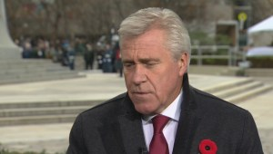 Tom Clark speaks with Newfoundland Premier Dwight Ball on Remembrance Day