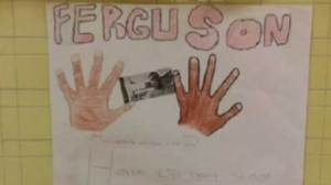 Parents complain about student's Ferguson-related art project
