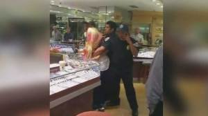 Struggle caught on camera after suspects caught attempting to rob jewelry store