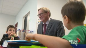 Alberta Education Minister Eggen tours Our Lady of Grace school