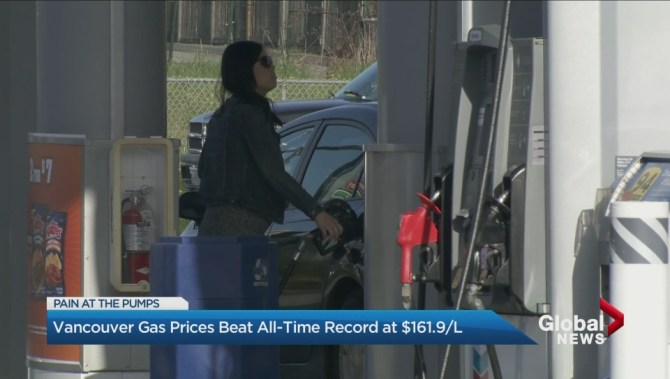 Vancouver reaches highest gas prices in North American history, expected to keep rising: analyst | Globalnews.ca