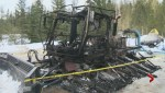 """Devastating"" fire destroys vital piece of snowmobile trail-grooming equipment near Kelowna"