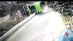 Security camera captures deadly tour bus crash which left Canadian injured