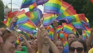 Raw video: Montreal gay pride parade 2014