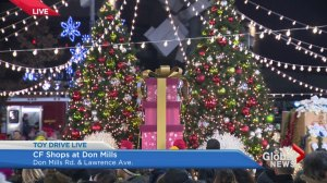 Toy Drive: The lighting of the Christmas tree