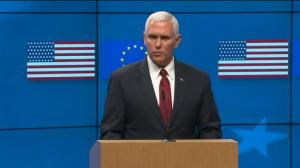 Vice-President Mike Pence looks to assuage EU fears over new administration