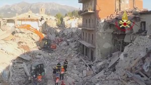 Strong aftershocks in Italy as rescue efforts continue after Wednesday's earthquake