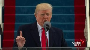 Donald Trump paints dark picture in inaugural speech