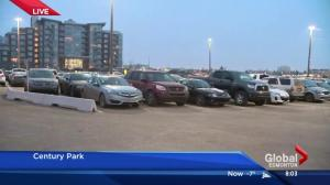 Free parking stalls at Century Park park and ride in new location