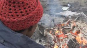 "Smouldering ruins of tent city at Calais' ""Jungle"" migrant camp"
