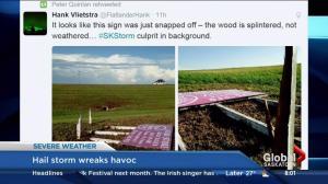 Hail storm wreaks havoc on parts of Saskatchewan