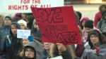 U.S. Consulate closes as hundreds protest travel ban