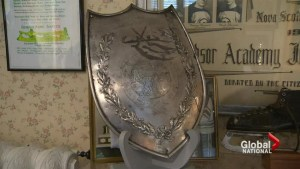 Starr Shield hockey trophy on display after being lost for decades