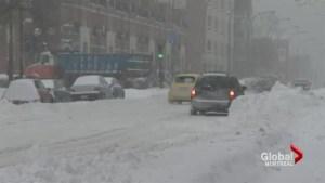 Winter storm blankets Montreal