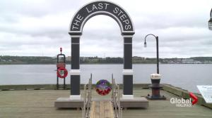 Memorial arch marks departure of soldiers who fought in the Great War