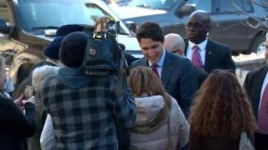 Trudeau arrives in Calgary