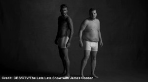 David Beckham stars in hilarious spoof of his own underwear ads