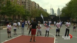 Damaged basketball court re-opens in downtown Toronto