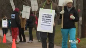 Public high school teachers strike in Durham