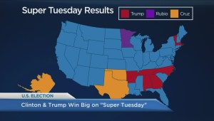 Donald Trump and Hillary Clinton celebrate Super Tuesday win