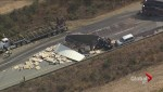 Truck crash on Highway 1