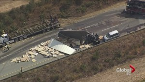 Truck crash on Highway 1