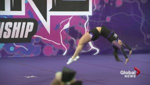 Cheerleaders from across western Canada compete in Lethbridge