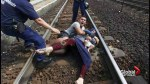 Refugee couple stuck in Hungary throws themselves on train tracks