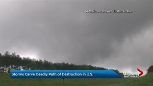 Storms carve deadly path of destruction in U.S.