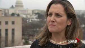Foreign Affairs Minister Chrystia Freeland's take on Trump's 'America First' inauguration speech