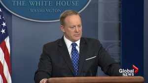 Sean Spicer asked about Trump's confidence in FBI Director James Comey just prior to firing