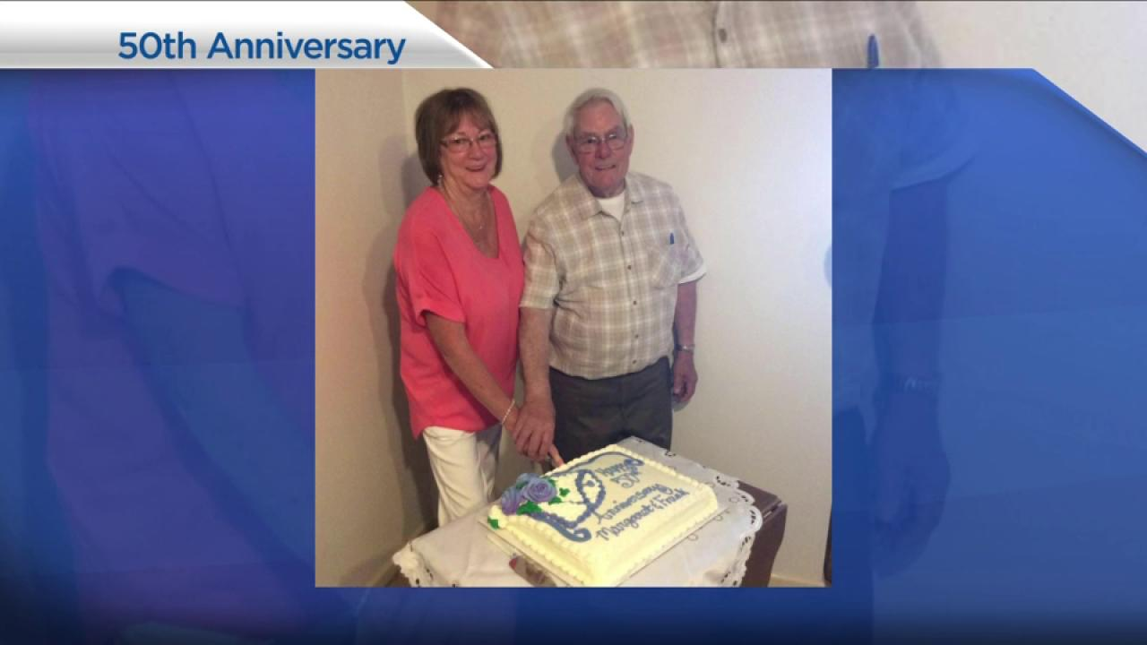 B.C. couple celebrates 50th anniversary at Walmart parking lot amidst wildfires
