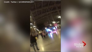 Man runs from railway station near where explosions went off during Ariana Grande concert