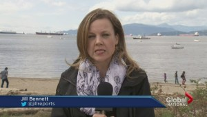 Federal government criticized for slow clean up of Vancouver oil spill