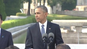 Obama urges moral scientific responsibility during Hiroshima wreath laying