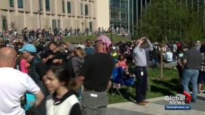 Thousands take in solar eclipse at University of Calgary