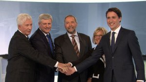 Federal leaders face off in French-language debate