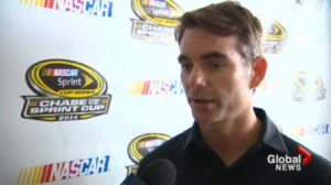 Jeff Gordon makes a pit stop in Toronto to talk about the Sprint Cup and a proposed NASCAR track in Fort Erie.
