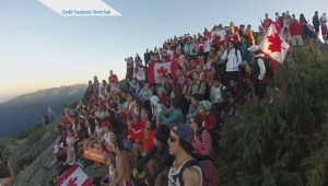 Hundreds gather to sing 'O Canada' on Mt. Seymour