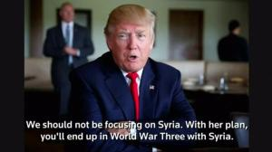 Donald Trump says Hillary Clinton's foreign policy plan could trigger World War 3