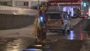 Raw video: Woman injured in Laval fire
