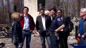 Prime Minister Trudeau tours Fort McMurray after wildfire rips through community