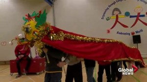 Calgary kids all fired up by first dragon dance